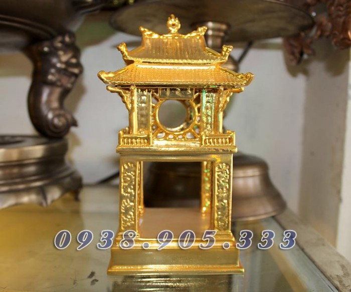 Tượng chùa 1 cột mạ vàng 12cm0