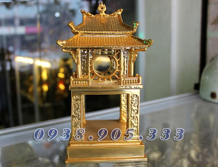 Tượng chùa 1 cột mạ vàng 12cm2