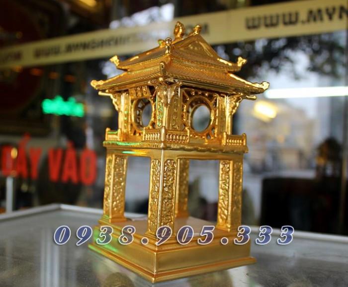 Tượng chùa 1 cột mạ vàng 12cm4