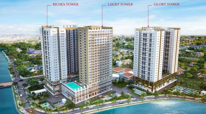 RICHMOND CITY : Là tổ hợp không gian sống sang trọng với các loại hình : căn hộ, Officetel, căn trệt TM, TTTM. Gồm 3 Block, trong đó 2 Block căn hộ và 1 Block Officetel.  Tên gọi của mỗi Block chính là yếu tố tạo nên sự thịnh vượng, phúc lộc cho những cư dân sinh sống. • Block RICHES TOWER : Tượng trưng cho sự giàu có, tấn tài và tấn lộc. • Block LUCKY TOWER  : Văn phòng làm việc kết hợp nơi ở hiện đại ( Officetel ). Với tên gọi này, những chủ nhân sinh sống và làm việc tại đây chắc chắn sẽ nhận được nhiều may mắn, đại cát, đại lợi trong kinh doanh. • Block GLORY TOWER  : Tượng trưng cho danh tiếng với mong muốn mang đến sự vinh quang, vẻ vang cho gia chủ. *. Hệ thống tiện ích nội khu hiện đại : hồ bơi Sky view, công viên, đường dạo, vườn BBQ, khu vui chơi trẻ em, Trường mẫu giáo, Gym, Khu ẩm thực, Spa,...