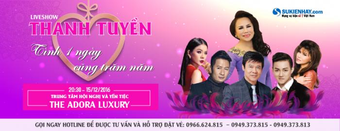 Vé livehsow Thanh Tuyền 15/12/2016 tại TP Hồ Chí Minh giá từ 900K