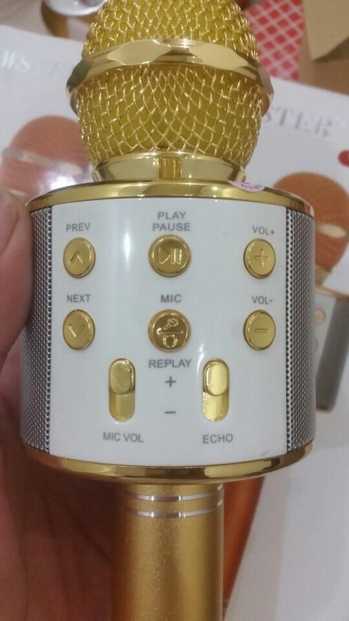 Micro hát karaoke kèm loa Bluetooth ws-858