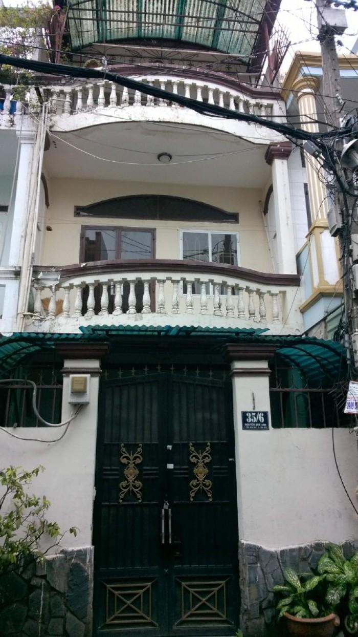 Bán Nhà Hẻm 6M 35/6 Nguyễn Quý Anh, DT: 4 x 15M, 2 Lầu, Giá: 3.380 Tỷ.