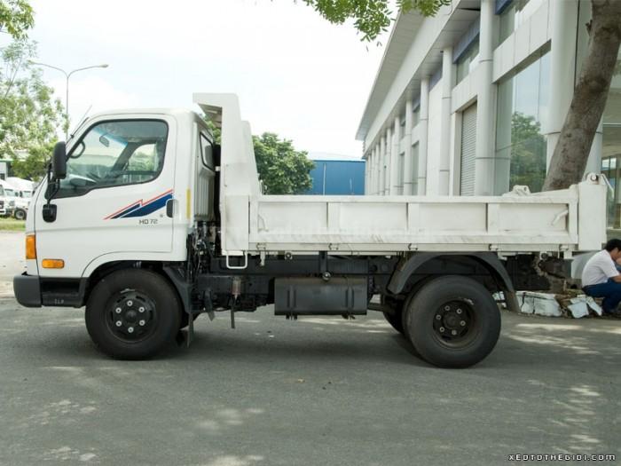 Xe Ben hyundai HD72, tổng tải trọng 7 tấn