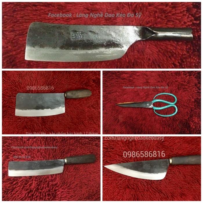 Bộ dao làm bếp thép nhíp Nga chuyên dụng từ xưởng rèn Làng Nghề Đa Sỹ