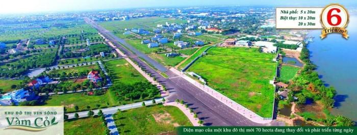 Đất đầu tư. MT Hùng Vương 50m. TT Hành  Chính Tp. 6tr/m2