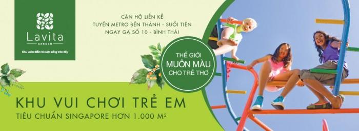 Căn hộ Ga Metro Ngã 4 Bình Thái Lavita Garden chỉ 1,2 tỷ/căn.