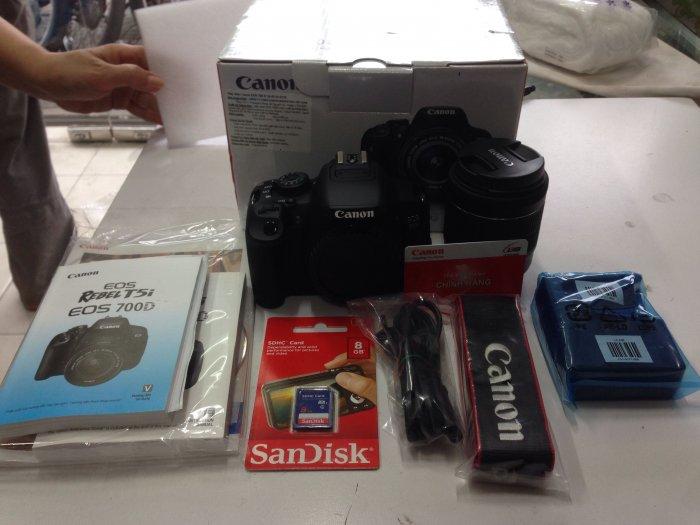 Canon 700D mới 100% lens kit 18-55 IS STM