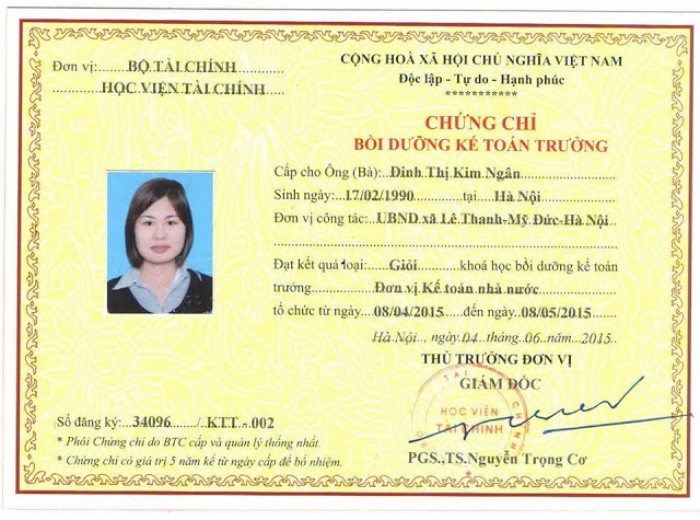 Học kế toán trưởng tại Hà Nội, Hải Phòng, Quảng Ninh, Hà Nam, Nghệ An