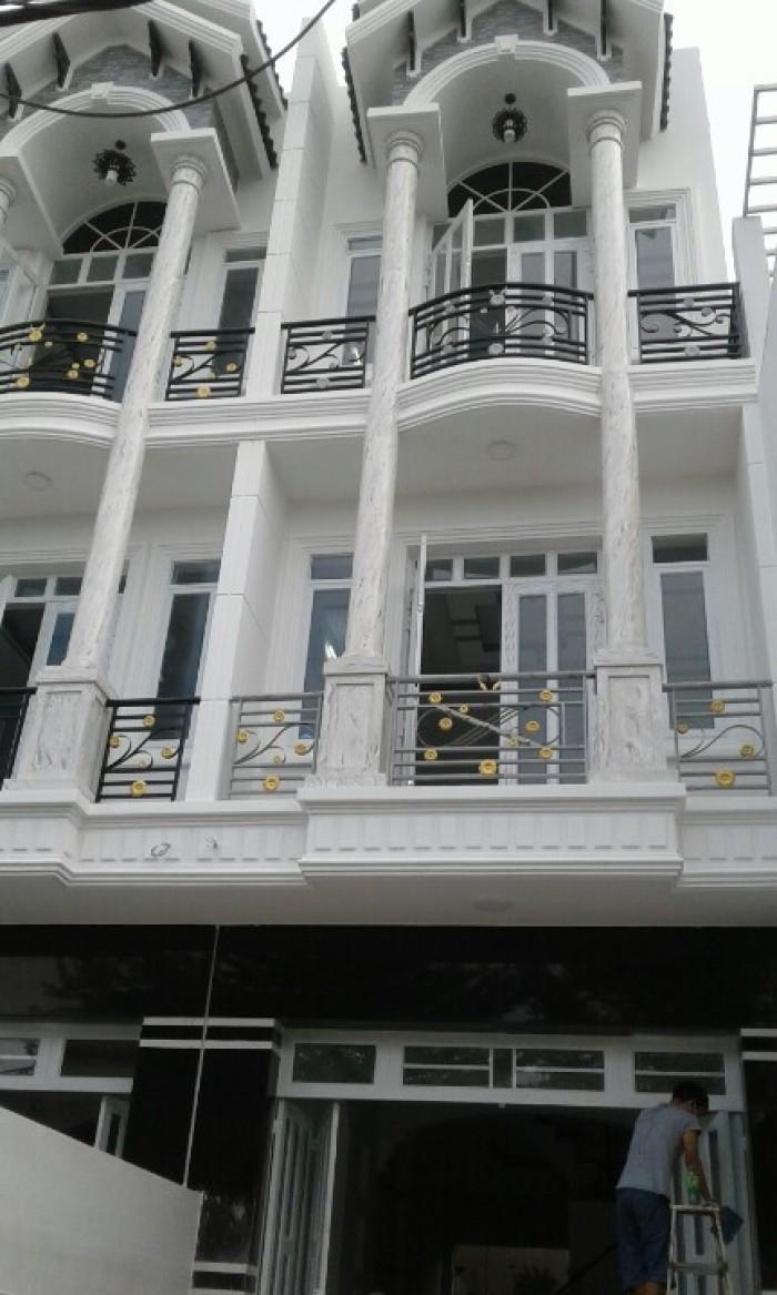 Bán nhà mới đẹp, Huỳnh Tấn Phát, Nhà Bè, DT 4x20m, 1 trệt 2 lầu, gồm 4 phòng ngủ, 4wc. Giá 2,75 tỷ