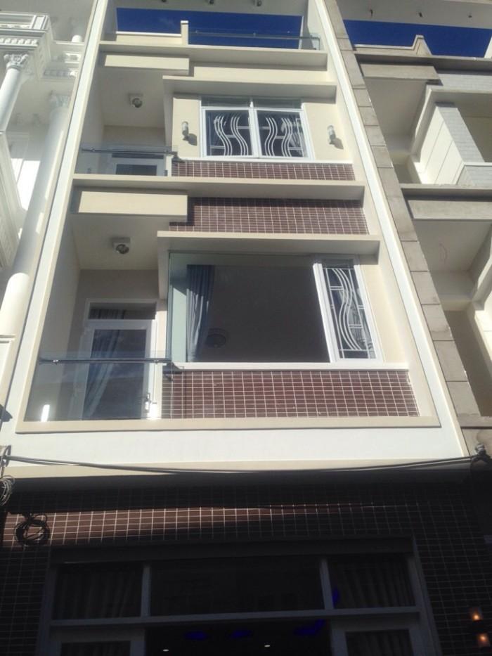 Bán nhà quận 7, Huỳnh Tấn Phát, Phú Thuận, DT4x14m, 1 trệt 2 lầu, có sân thượng trước và sau. Giá 3,5 tỷ