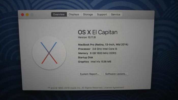 MacBook Pro (Retina, 13-inch, Mid 2014) – 128GB mới leng keng.4