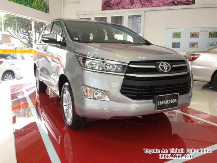 Toyota An Thành Fukushima - Đại lý Toyota 100% vốn Nhật Bản cam kết mang đến giá xe Innova G đúng giá và kèm theo nhiều chương trình ưu đãi, khuyến mãi mua xe, gọi cho chúng tôi theo hotline 0982 100 120