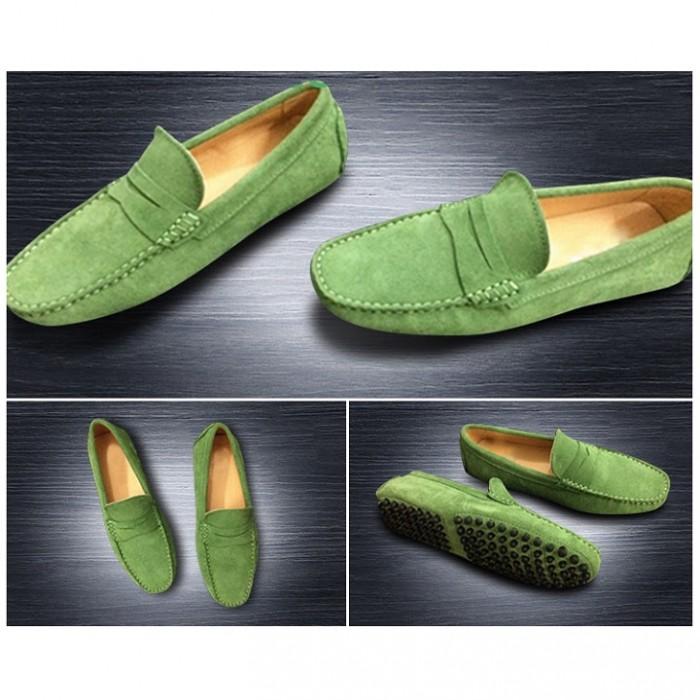 Giày lười da lộn nam size nhỏ 35 - 4416