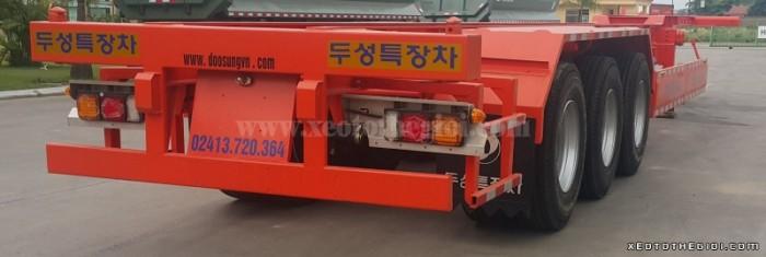 Nhà phân Phối Rơ mooc Doosung bán Mooc Xương 3 trục 37 tấn , giao hàng trên toàn quốc