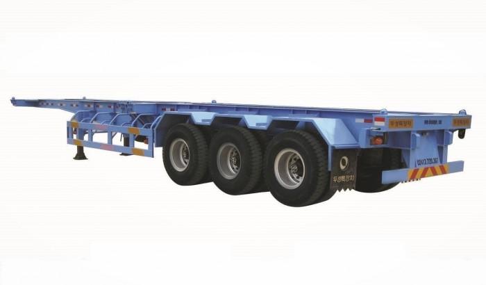 Nhà phân Phối Rơ mooc Doosung bán Mooc Xương 3 trục 37 tấn , giao hàng trên toàn quốc 2