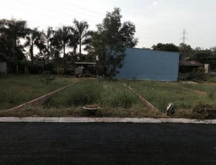 Đất thổ cư, shr, 75m2, mặt tiền đường Hưng Long, bc