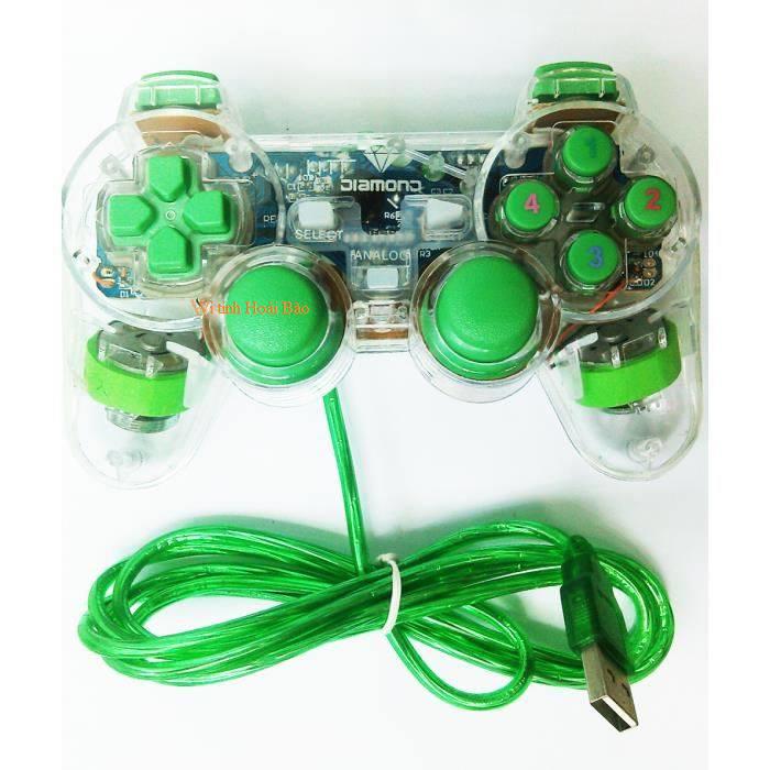Tay game PS đơn Diamond SG-401 có Led rung loại tốt tại Zen's Group linh phụ kiện sỉ lẻ
