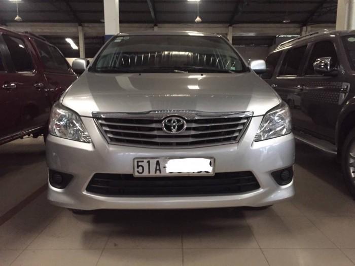Bán Toyota Innova G 2013, màu bạc, Tp. Hcm