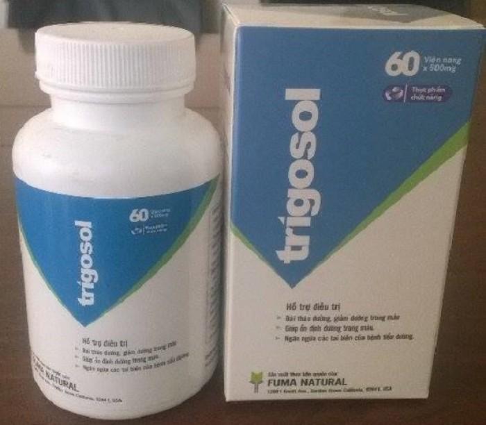 TPCN Trigosol với thành phần thảo dược 100% giúp ổn định đường huyết, ngăn ngừa biến chứng ở người tiểu đường. Sản phẩm an toàn khi sử dụng lâu dài Giá bán: 210.000đ/ hộp 60 viên Liên hệ 0938 920 693 để được giao hàng tận nơi trên toàn quốc