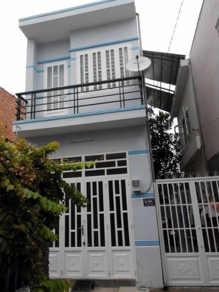 •Bán nhà lầu,83m2, mới xây,KDC hiện hữu đường Đinh Đức Thiện