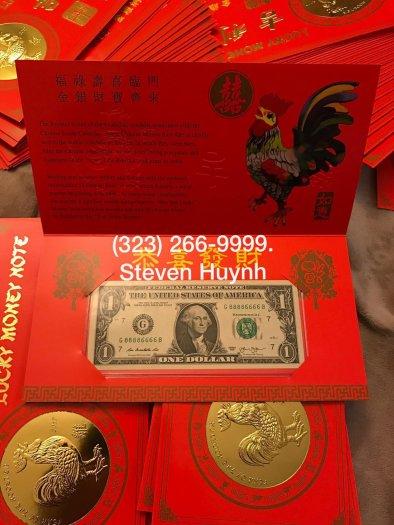 1 USD Đinh Dậu 2017, Serial Tứ Quý 8888, Bộ Tài chính Mỹ phát hành4