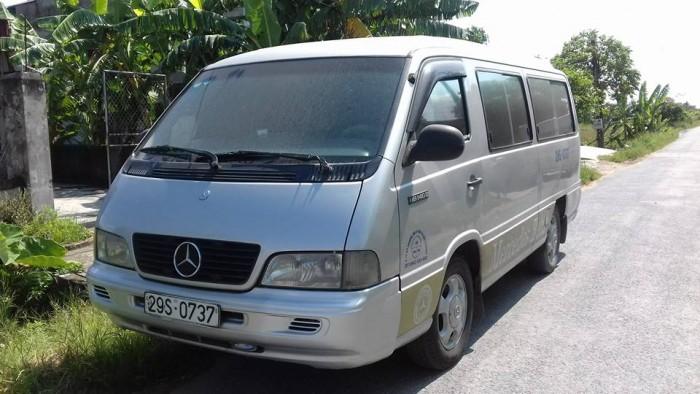 Cần bán gấp xe ô tô MB140 16 chỗ. Đời 2002 màu ghi bạc. Biển hà nội, xe còn đẹp.