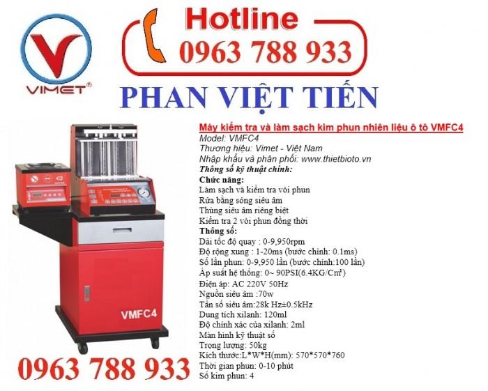 Máy kiểm tra và làm sạch kim phun nhiên liệu ô tô VMFC4 0