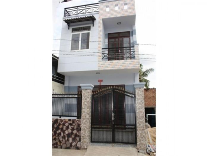 Nhà bán Nhà Bè ngay mặt tiền đường lớn Nguyễn Bình, diện tích 4x20m xây 1 trệt 1 lầu 2 PN. Giá 3.2 tỷ