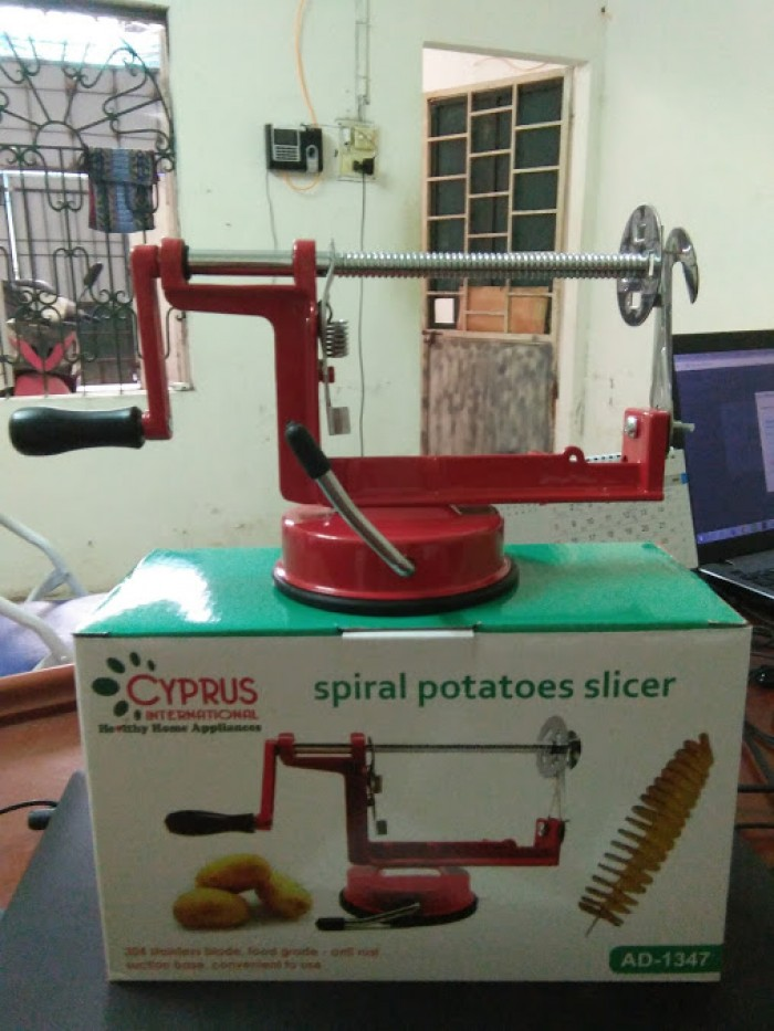 Chuyên cung cấp bếp chiên nhúng, máy cắt khoai tây lốc xoáy các loại giá rẻ