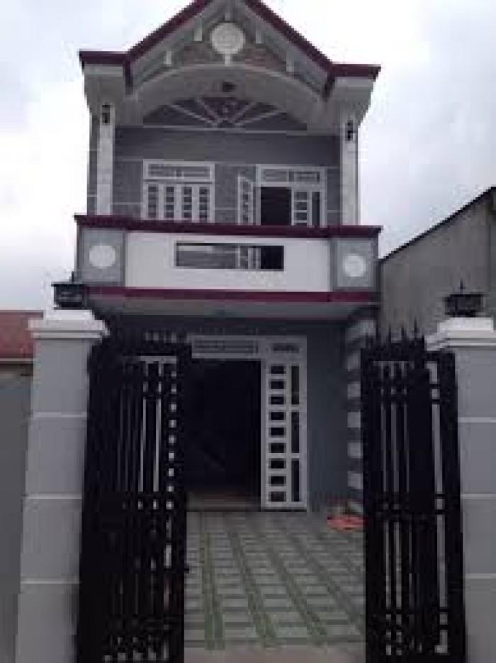 Bán nhà lầu về quê,gần Hương Lộ 11 chợ Hưng Long,88m2 giá 820TR.