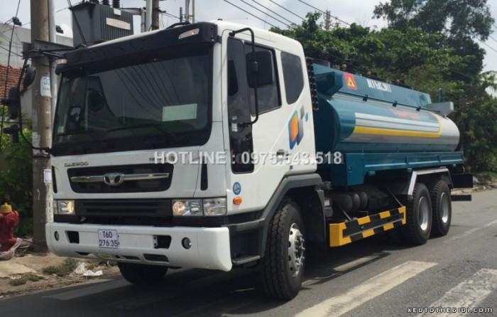 Bán xe Daewoo K7CEF chứa 16 m3 chở xăng , giá rẻ cạnh tranh
