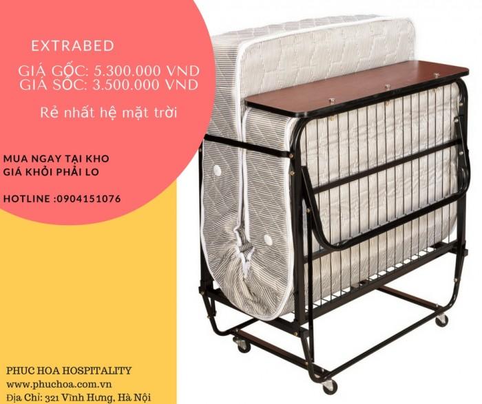 Giường Extra Bed hay còn gọi là giường xếp hoặc giường gấp di động , chuyên dùng cho khách sạn, văn phòng1