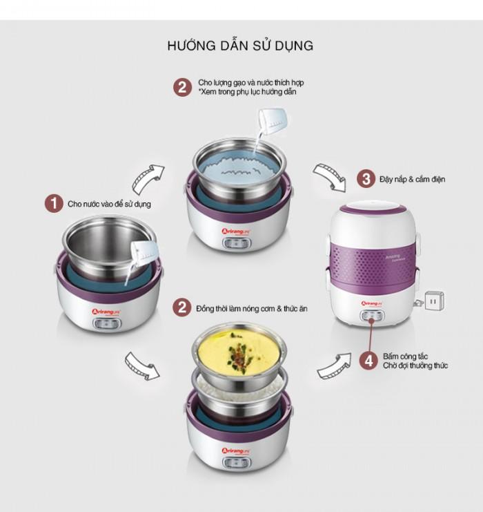 Hướng dẫn sử dụng hộp hâm nóng ArirangLife - MSN383160