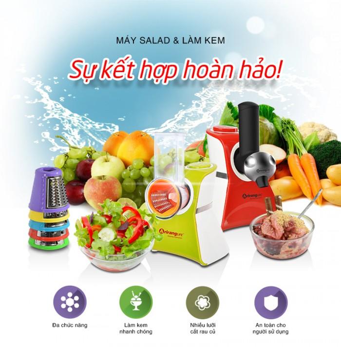 Máy cắt rau củ và làm kem Arirang Life - Sự kết hợp hoàn hảo nhất cho bạn!