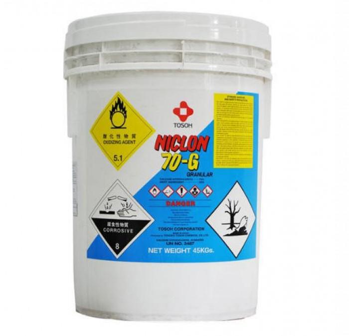 Clorin Ca(OCl)2 70%,xuất xứ Nhật ,45kg/thùng