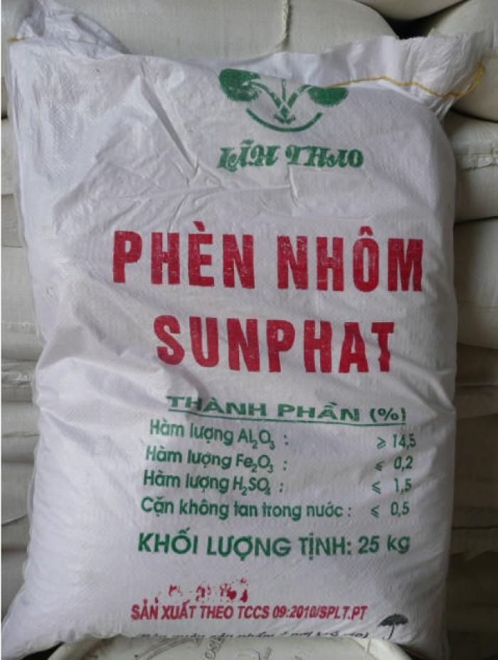 Phèn đơn-phèn nhôm Sun phát-25kg/bao-xuất xứ Việt Nam