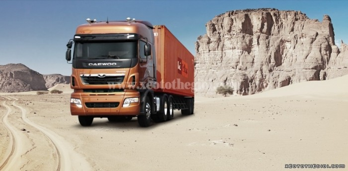 Daewoo 2 cầu 340 V3TEF 45 tấn đầu kéo Nhập khẩu từ Hàn Quốc mới 100% 1