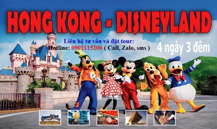 Tour du lịch HongKong – Disneyland 4 ngày 3 đêm