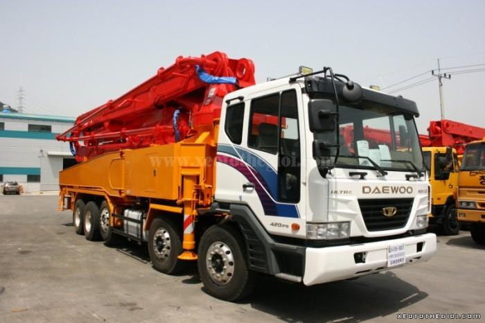 Xe Bơm bê tông Junjin JXZZ38-5.16HP cần 38m, động cơ bền bỉ, giá tốt, tiết kiệm nhiên liệu