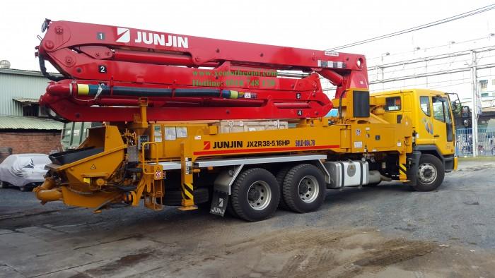 Bán xe Bơm bê tông Junjin JXR43- 4.16HP 43m, nhập khẩu mới 100%, giao ngay