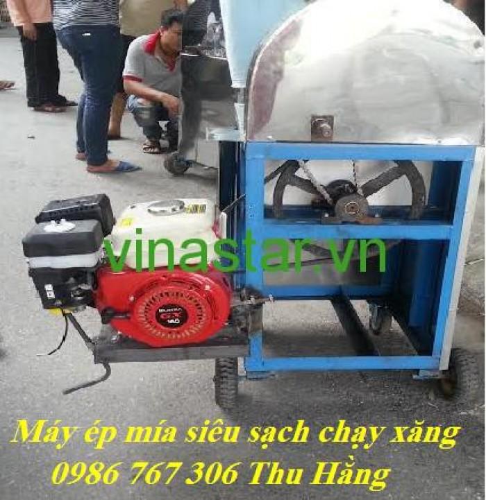 Bán máy ép mía chạy xăng,máy ép mía 1 lần siêu sạch.