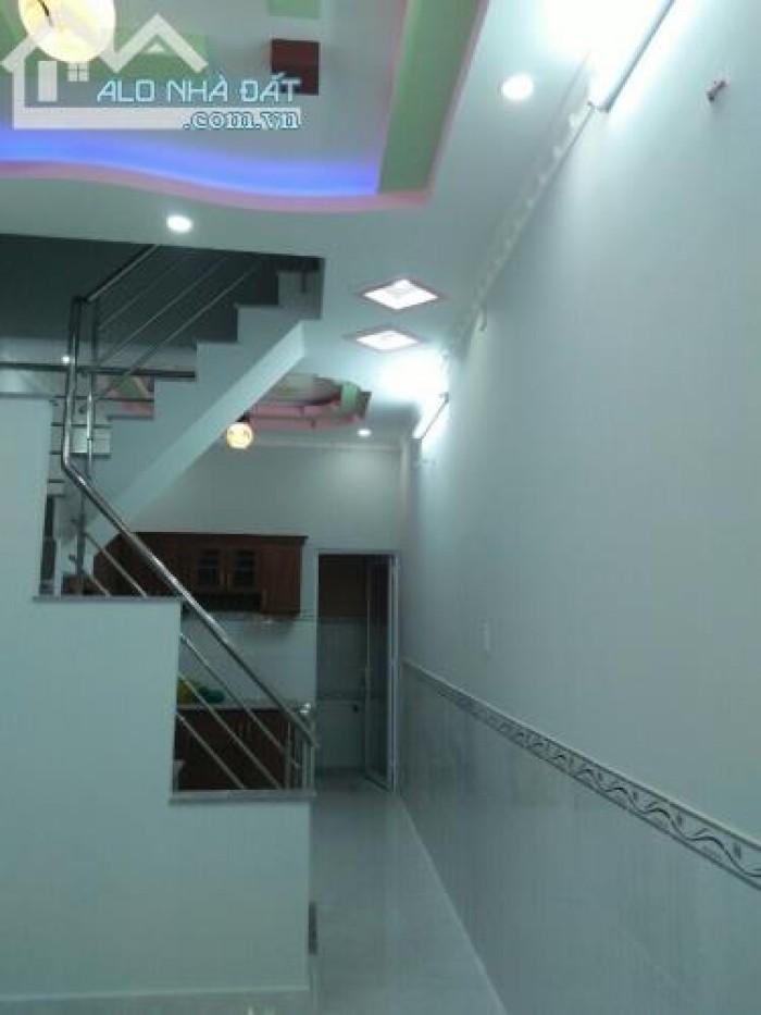 Bán nhà sổ hồng riêng DT 4m x 12m, 2 phòng ngủ, giá 1.2 tỷ,  thị trấn Nhà bè