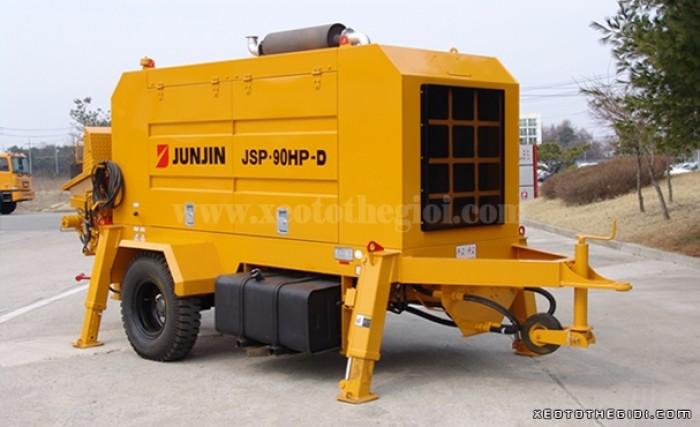 Xe Bơm bê tông tĩnh công suất 60-90m3/h Junjin JSP 90HP- D
