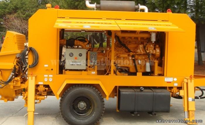 Bán xe Bơm bê tông tĩnh Junjin JSP 90HP- D công suất 60-90m3/h