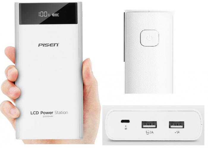 Pin Dự Phòng Pisen 20000 20000mAh LCD Power Station1