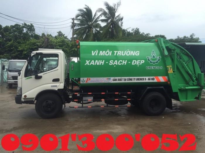Giá xe cuốn ép rác Hino 6 khối 2.5 tấn, xe cuốn ép rác Hino 6 khối 2.5 tấn nhập khẩu giá rẻ
