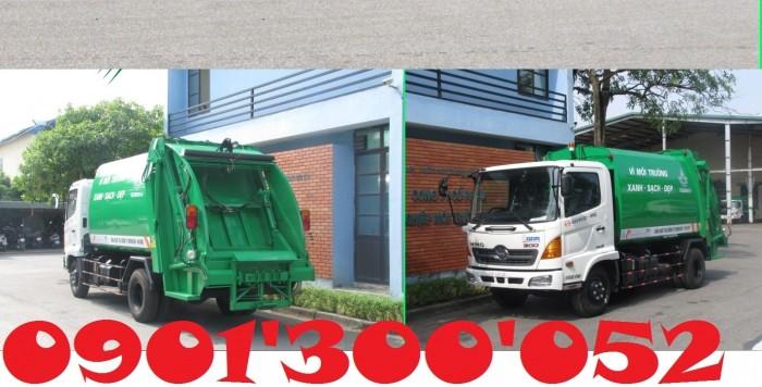 Giá xe cuốn ép rác Hino 6 khối 4.5 tấn, xe cuốn ép rác Hino 6 khối 4.5 tấn nhập khẩu giá rẻ 0