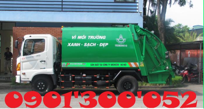 Giá xe cuốn ép rác Hino 6 khối 4.5 tấn, xe cuốn ép rác Hino 6 khối 4.5 tấn nhập khẩu giá rẻ 1
