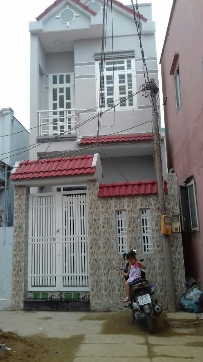 Bán nhà mới đẹp, Huỳnh Tấn Phát, Nhà Bè, DT 4x14m, 1 trệt 1 lầu. Giá 1.89 tỷ